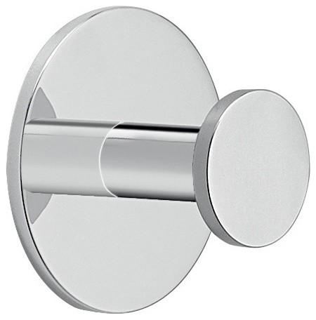 Adhesive Mounted Polished Chrome Aluminum Bathroom Hook