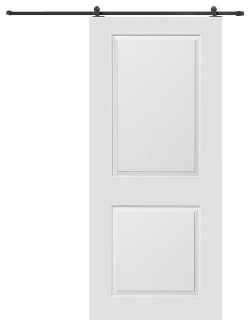 32 X 84 Carrara Solid Core Single Interior Door With Barn Door