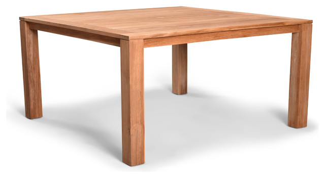 Classic Teak 8 Seater Square Dining Table Transitional Outdoor Dining Tables By Harmonia Living Hl Clsc Tk 8sqdt Houzz