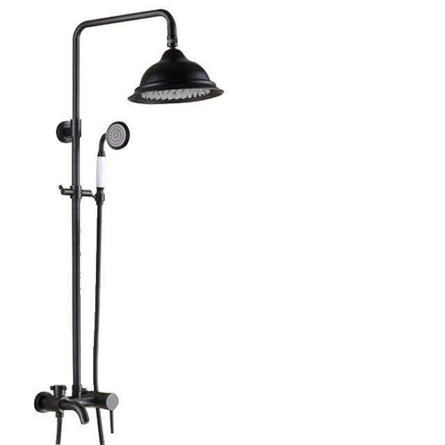 8 Oil Rubbed Bronze Rain Shower Systems With Handheld Shower