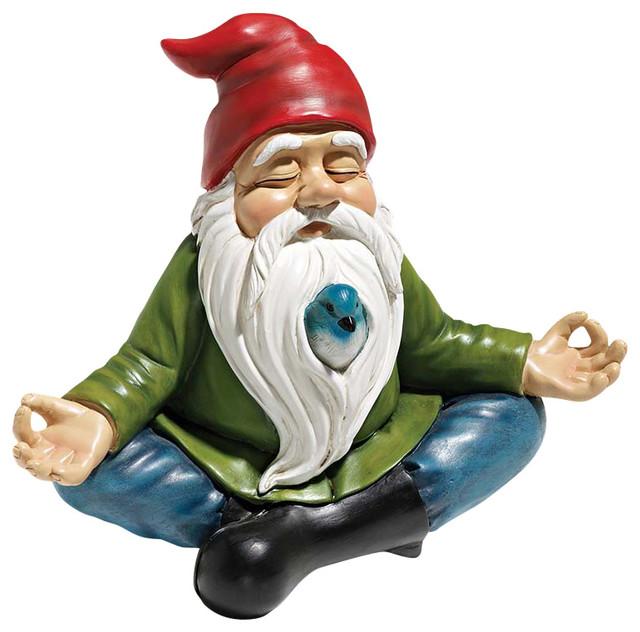 Zen Garden Gnome Statue Contemporary