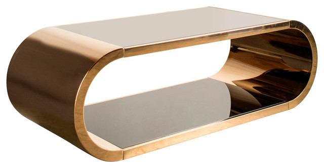 Calista Coffee Table, Rose Gold