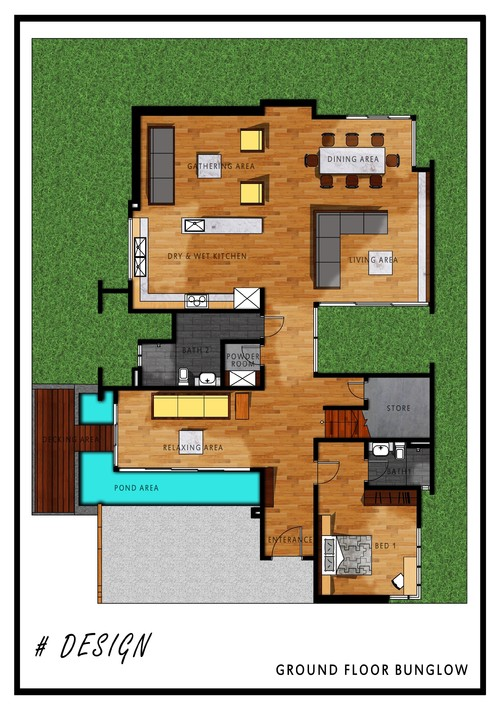 Ground Floor Bungalow Floor Plan Design