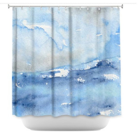 Ocean Wave Shower Curtain Seascape Painting