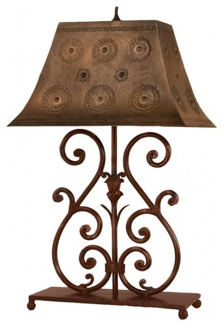 Botanica Wrought Iron Table Lamp.