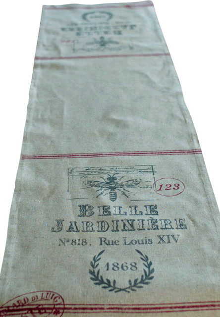 French Feedsack Table Runner Rustic Table Runners