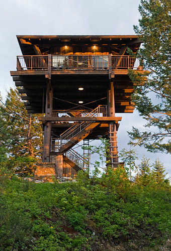Whitefish family lookout tower rustic shed jackson for Building a lookout tower