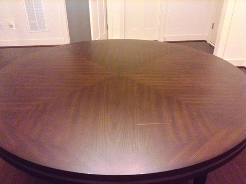 Remove Scratch From Hardwood Solid And Oak Veneer Dining Table.