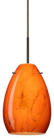Besa Lighting 1bt-1713hb Pera 1 Light Cord-Hung Mini Pendant.