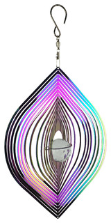 Rainbow Cosmo Cat Eye Wind Spinner