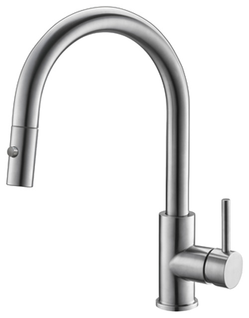 STYLISH Single Handle Pull Down Stainless Steel Kitchen Faucet