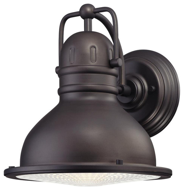 Industrial Outdoor Led Lighting: LED Outdoor Wall Lantern, Oil Rubbed Bronze