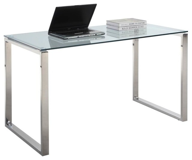 Computer Desk With Glass Top.