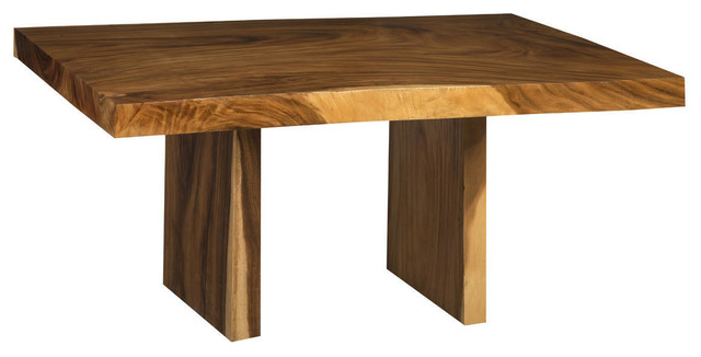 60 L Dining Table Acacia Wood Live Edge Light Dark Brown Grain Smooth Solid Rustic Dining Tables By Noble Origins Home