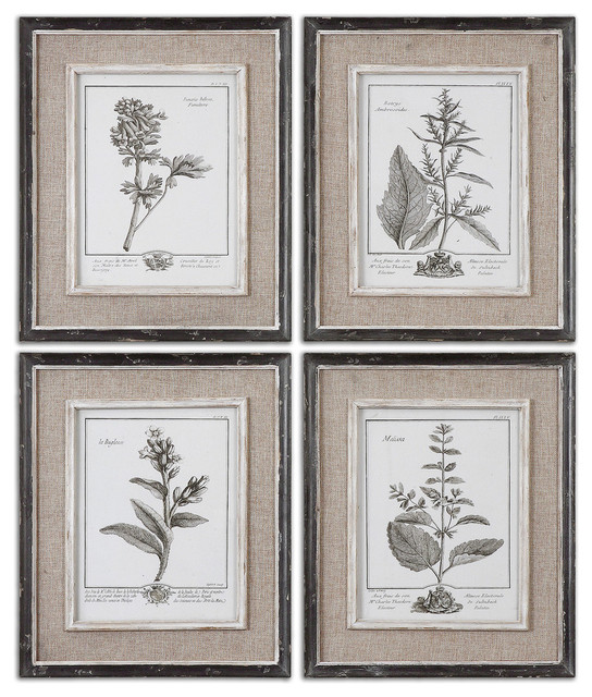 Casual Gray Study Framed Art, 4-Piece Set.