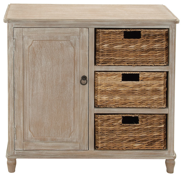 Stylish And Trendy Multipurpose Wood Basket Dresser  Tropical Accent Chests And Cabinets