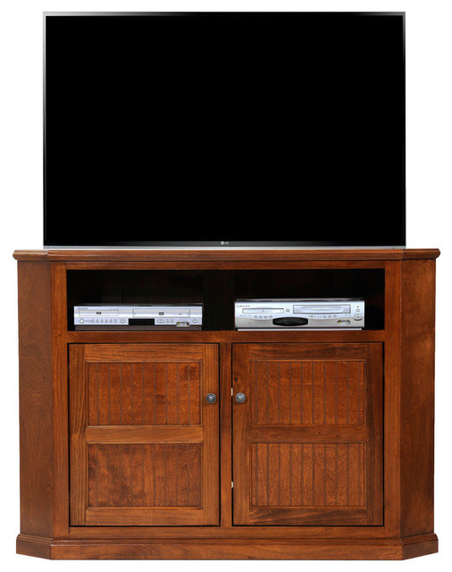 poplar tall corner tv stand transitional entertainment