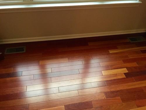 - Multicolored Wood Floors, Light Gray Walls?