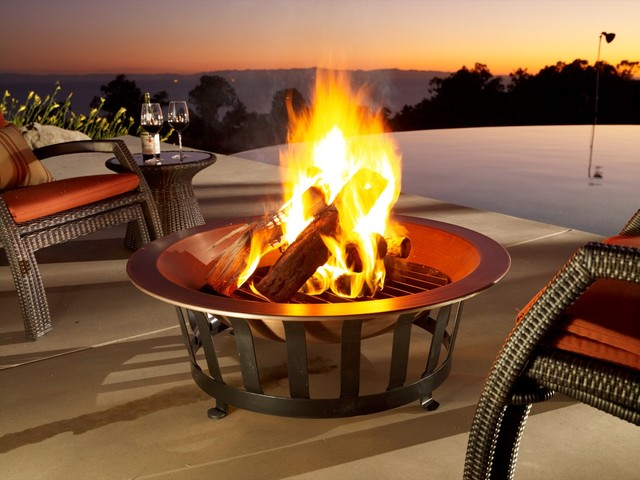 40 Quot Copper Firepit Traditional Other By Frontgate