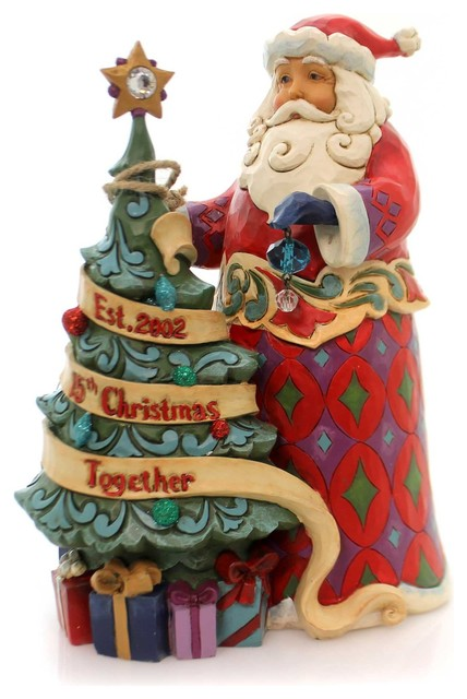 Jim Shore 15th Christmas Together Polyresin Anniversary Heartwood Creek 4059000.