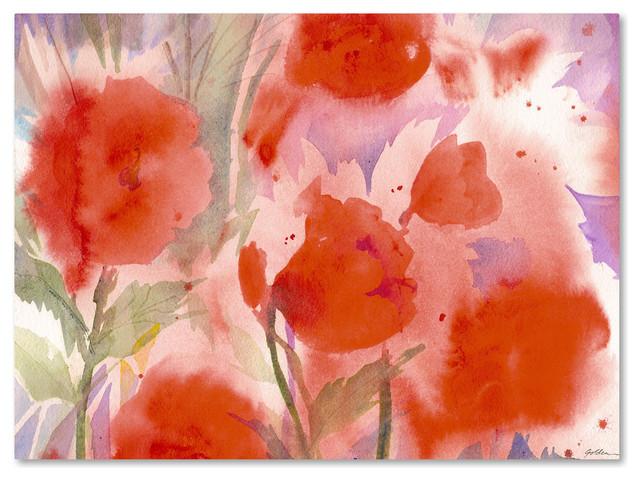 &x27;crimson Field&x27; Canvas Art By Sheila Golden.
