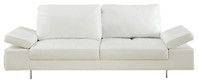 Gia Sofa In White Modern Sofas By At Home Usa Inc