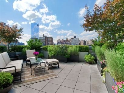Nyc Terrace Deck Roof Garden Pavers Outdoor Seating