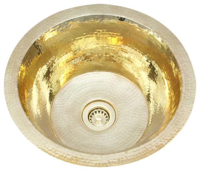 14 Quot Hammered Brass Bar Sink Contemporary Bar Sinks