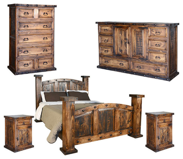 Rustic Bedroom Set, King