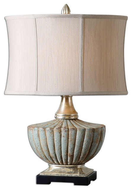 uttermost billy moon table lamp in heavily antiqued silver lamps