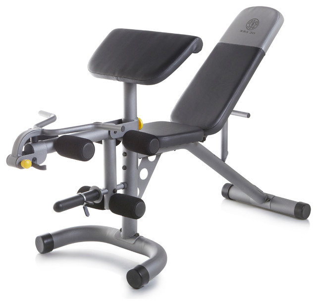 Gold s gym xrs weight bench transitional home gym equipment