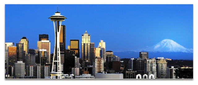 Seattle Wall Art seattle city skyline, urban modern wall art, contemporary