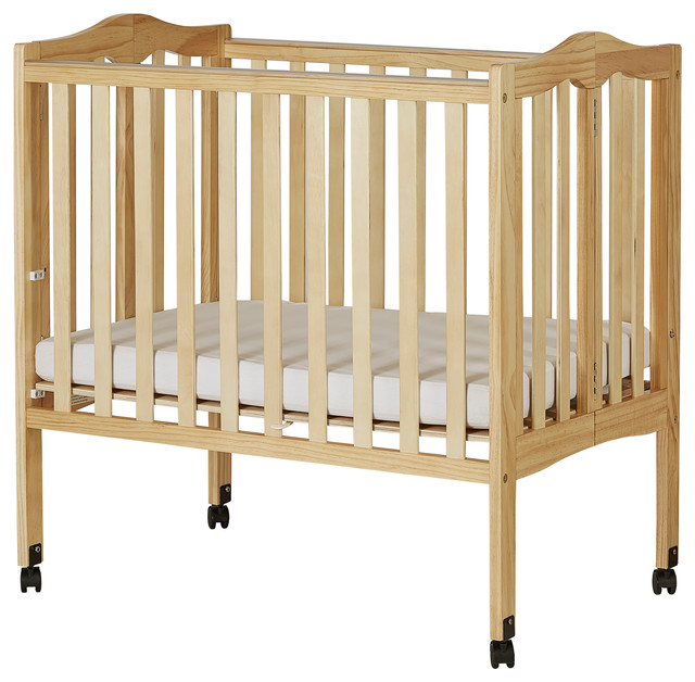 Dream On Me, 2 in 1 Lightweight Folding PorTable Crib, Natural