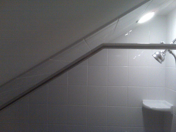 Attic Sloped Ceiling Custom Shower Rod Traditional  : traditional bathroom from www.houzz.com size 600 x 450 jpeg 57kB