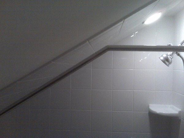 Attic/ Sloped Ceiling Custom Shower Rod - Traditional ...