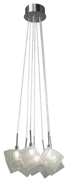 Elan Icekubez 7-Light Chrome Pendant/chandelier.