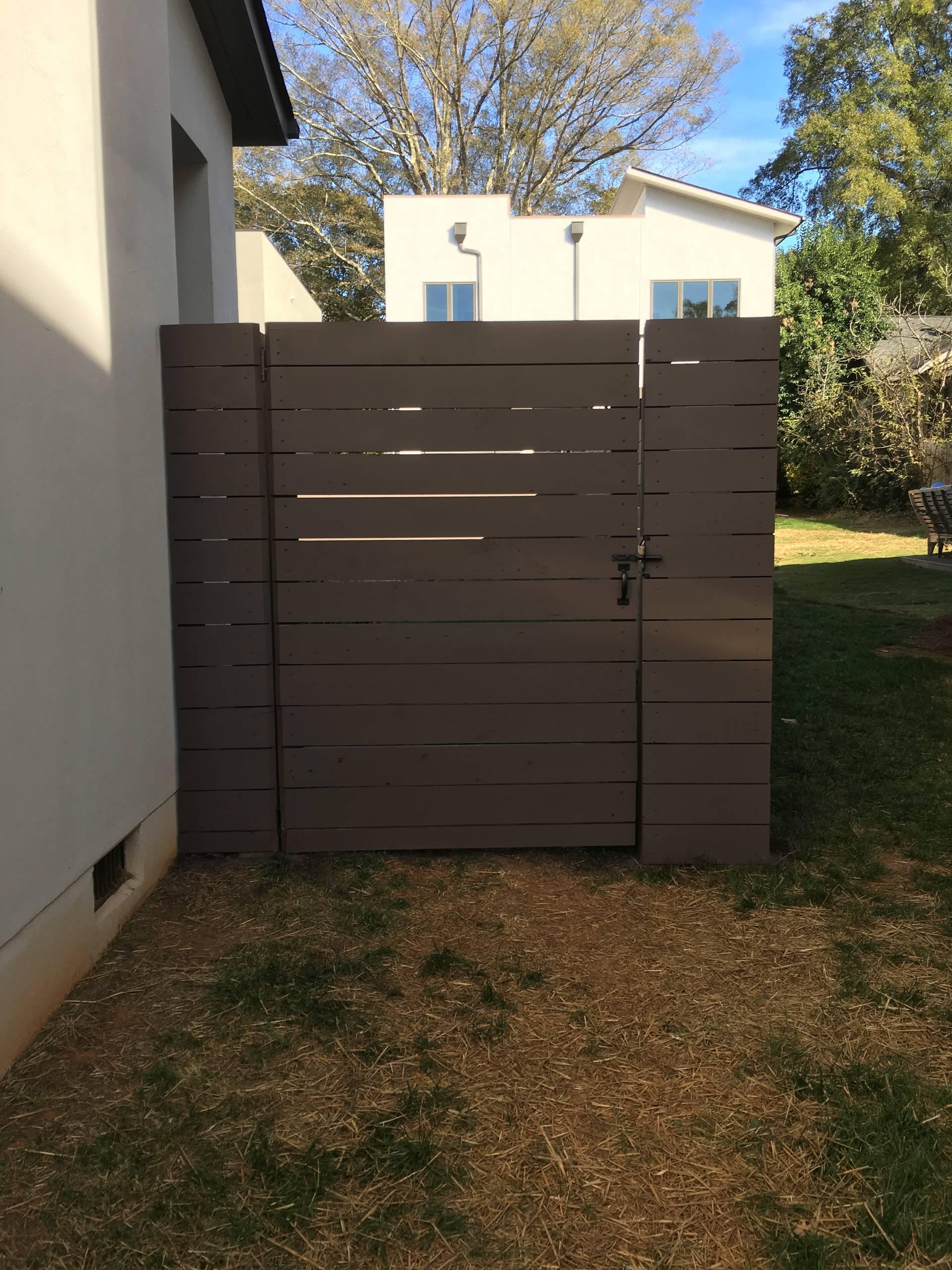 Horizontal Cedar Privacy Fence