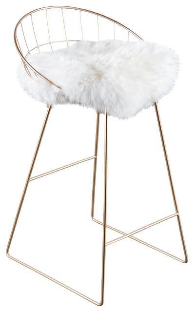 Fine Kylie Sheepskin Bar Chair Pabps2019 Chair Design Images Pabps2019Com