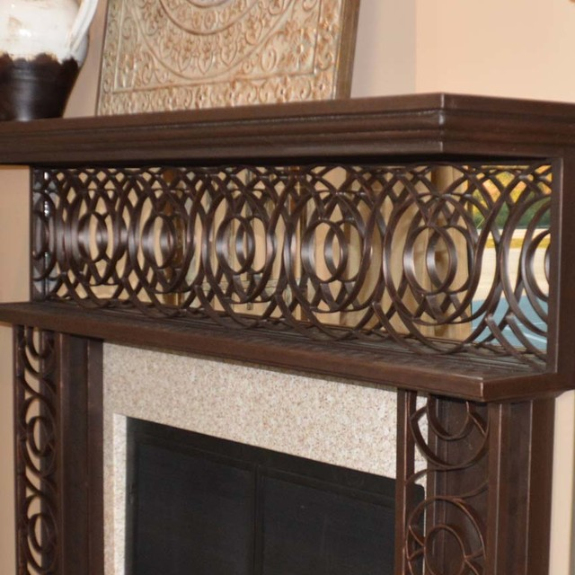 Mirrored Wrought Iron Fireplace Mantel Atlanta By Iron Accents