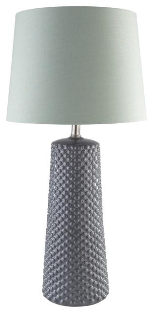Wesley Table Lamp, Grey.