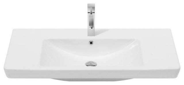 Cerastyle 068300-U Porto 33.60 Ceramic Bathroom Sink.