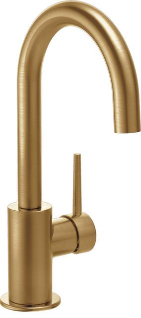 Delta Trinsic Single Handle Bar / Prep Faucet, Champagne Bronze.