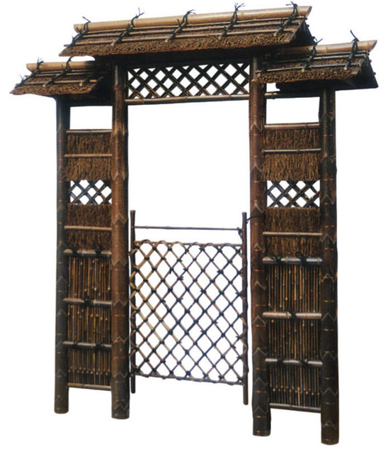 7 Anese Style Zen Garden Gate Asian Home Fencing And Gates By Oriental Furniture