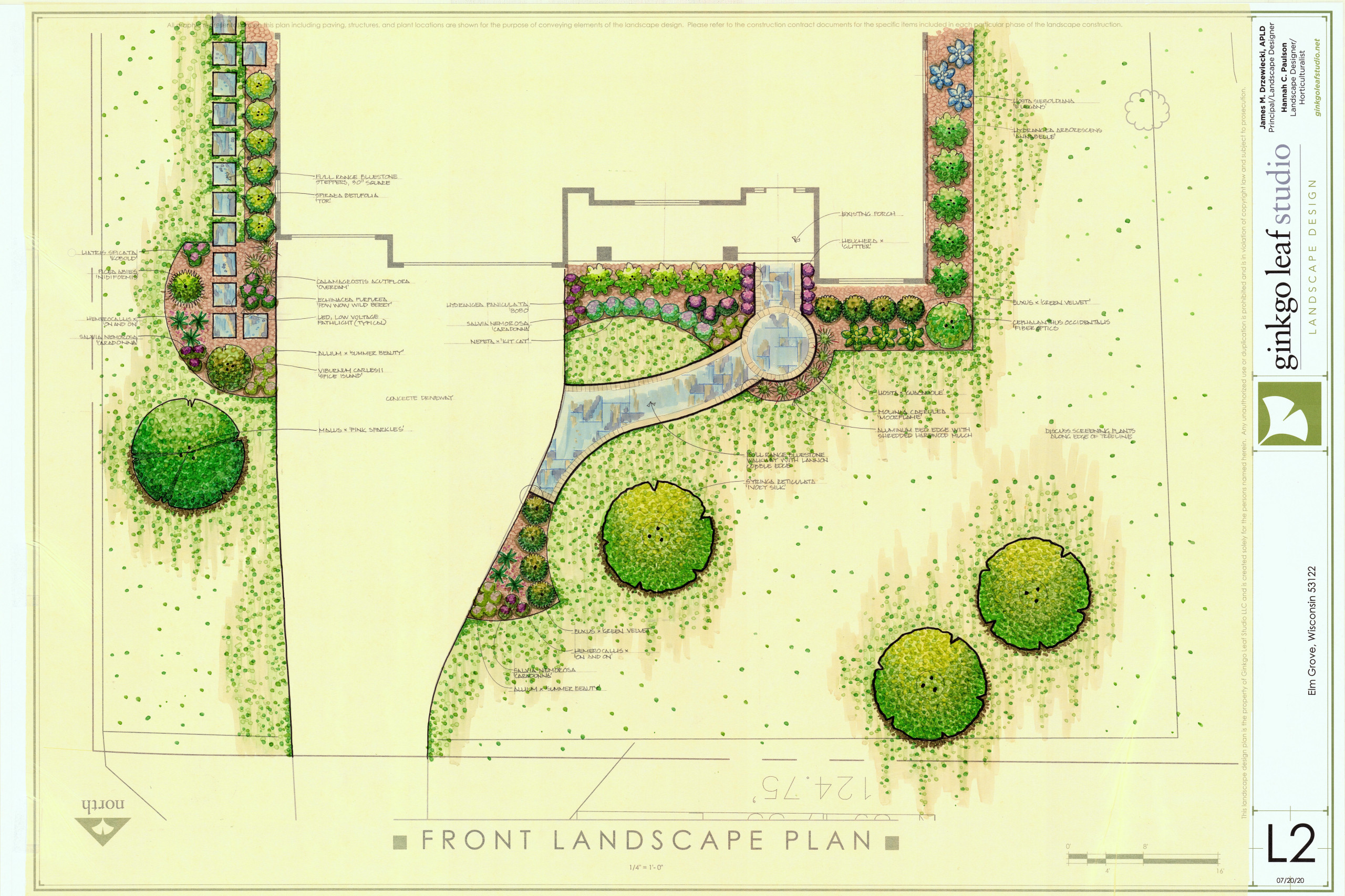 Traditional New Home Landscape - Elm Grove