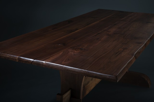 Black Walnut Trestle Table Traditional Dining Tables