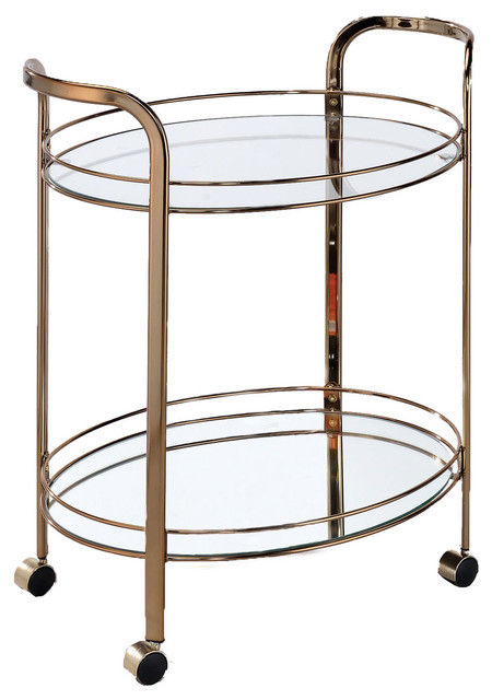 Furniture Of America Theon Contemporary Glass Serving