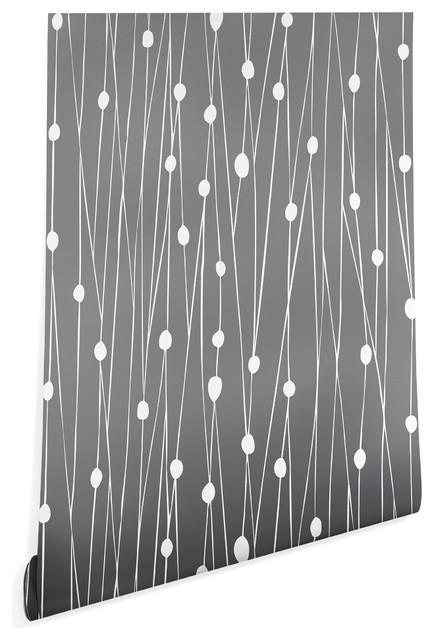 Deny Designs Heather Dutton Gray Entangled Wallpaper, Gray, 2&x27;x4&x27;.
