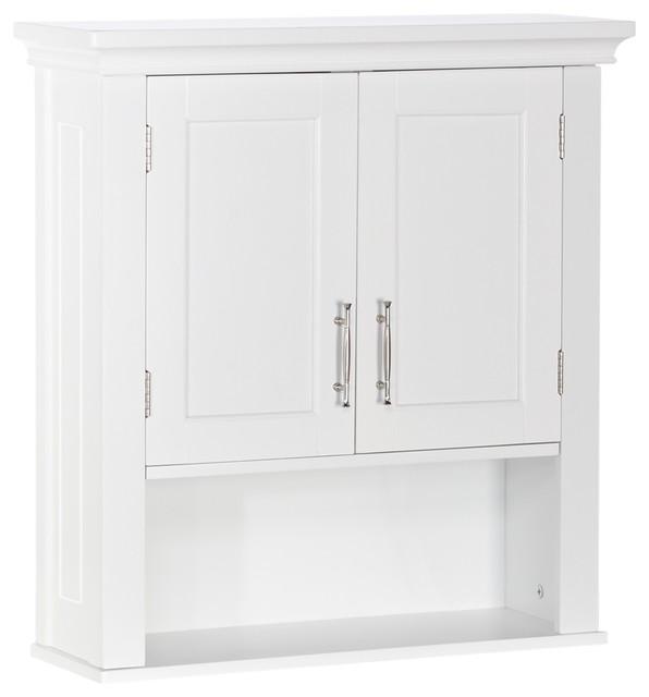 riverridge home somerset collection 2 door wall cabinet white contemporary bathroom