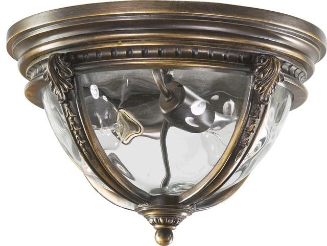 Quorum Pemberton 2-Light Flushmount, Bronze Patina.