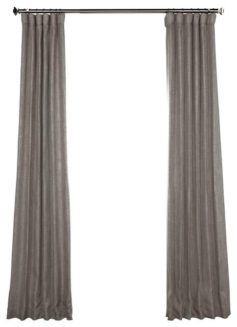 """Mink Fauxlinen Blackout Curtain Single Panel, 50""""x120""""."""